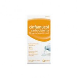CINFAMUCOL CARBOCISTEINA 50 MG/ML SOLUCION ORAL , 1 FRASCO DE 200 ML