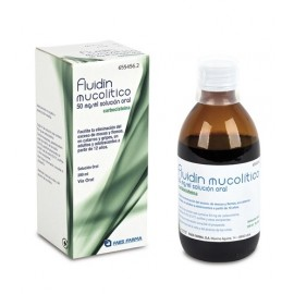 FLUIDIN MUCOLITICO 50 MG/ML SOLUCION ORAL , 1 FRASCO DE 200 ML