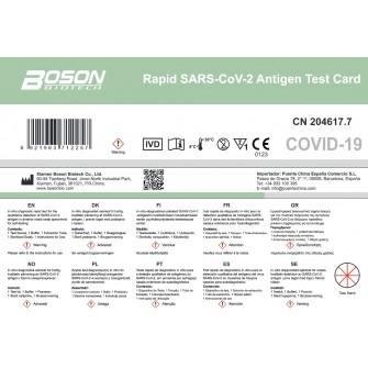 TEST NASAL ANTIGENOS AUTODIAGNOSTICO SARS-COV-2 XIAMEN BOSON BIOTECH 1 TEST PK